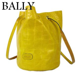 バリー(Bally)のバリー ヴァラ クロコダイル 型押し レザー 巾着式 肩掛け ショルダー バッグ(ショルダーバッグ)